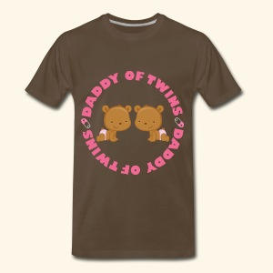 Daddy Of Twins Mens T-shirt - Men's Premium T-Shirt