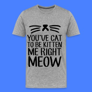 You've Cat To Be Kitten Me Right Meow T-Shirts - Men's Premium T-Shirt