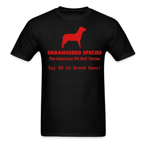 Endangered Species: Pit Bull, etc... - Men's T-Shirt