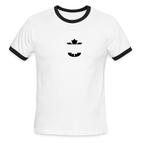 Canada Kicks Ass 2 w/ Back - Men's Ringer T-Shirt