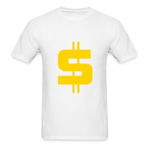 Men's T-Shirt - Stylised Dollar sign on a white t-shirt.
