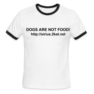 DOGS ARE NOT FOOD!, White/Black - Men's Ringer T-Shirt