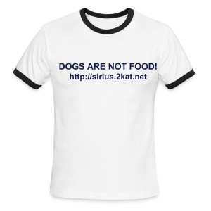 DOGS ARE NOT FOOD!, Sky/Navy - Men's Ringer T-Shirt