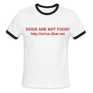 DOGS ARE NOT FOOD!, White/Red - Men's Ringer T-Shirt