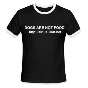 DOGS ARE NOT FOOD!, Black/White - Men's Ringer T-Shirt