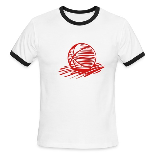 Basketball (Red) - Men's Ringer T-Shirt
