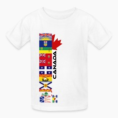White Canadian Provinces Kids' Shirts