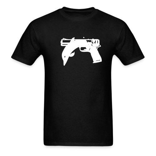 Men's T-Shirt - It's a mixture of a Dolphin and a Pistol, It makes no sense to me, but maybe it does to you?