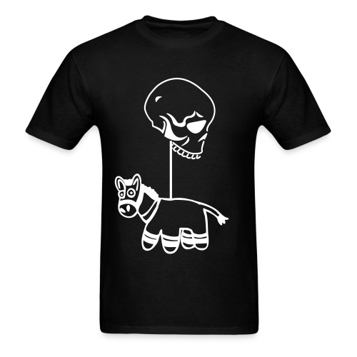 Men's T-Shirt - It's a Piñata hanging from a skull, what's wrong?