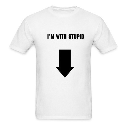 With Stupid (blk) - Men's T-Shirt