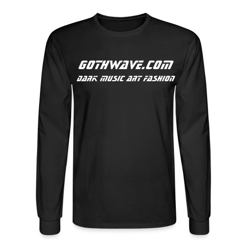 The GothWave Basic LongSleever - Men's Long Sleeve T-Shirt