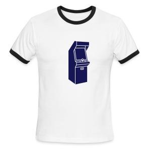Arcade Games-- Mens (Navy) - Men's Ringer T-Shirt