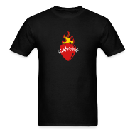 T-Shirts ~ Men's T-Shirt ~ Sacred Heart Crown of Thorns (Black LW Tee)