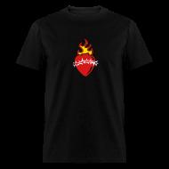 T-Shirts ~ Men's T-Shirt ~ Sacred Heart Crown of Thorns (Black LW Tee)