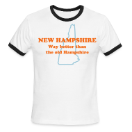 T-Shirts ~ Men's Ringer T-Shirt ~ NEW HAMPSHIRE: Way better than the old Hampshire