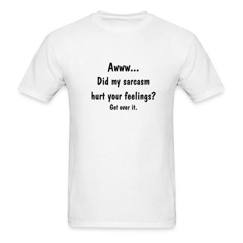 Sarcasm (white) - Men's T-Shirt