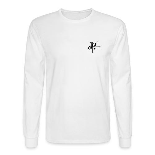 JH small logo Longsleeve Hanes white/black - Men's Long Sleeve T-Shirt