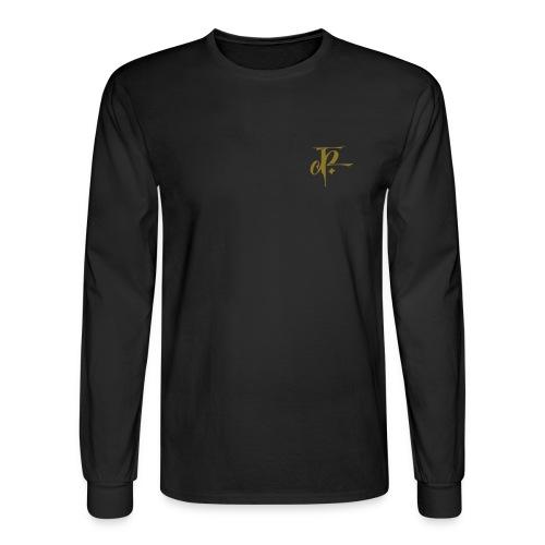 JH small logo Longsleeve Hanes black/metallic gold - Men's Long Sleeve T-Shirt