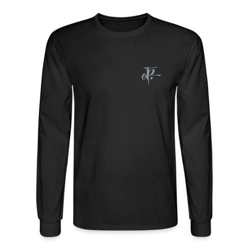 JH small logo Longsleeve Hanes black/metallic silver - Men's Long Sleeve T-Shirt