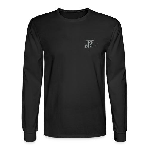 JH small logo Longsleeve Hanes black/silver grey - Men's Long Sleeve T-Shirt