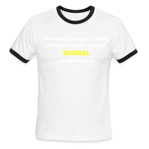 Sun Sal to go around - Men's Ringer T-Shirt