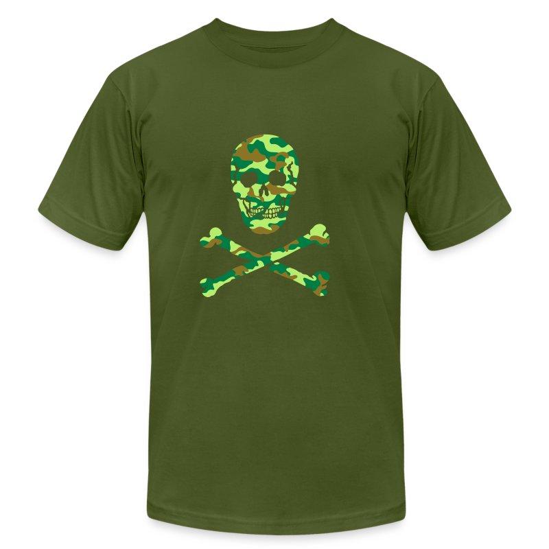 Skull Bones Camouflage T Shirt Spreadshirt