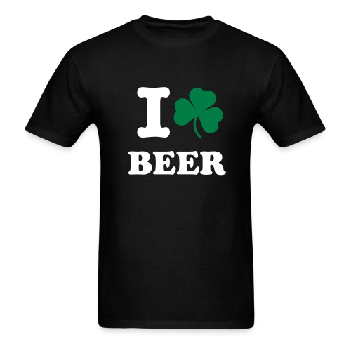 I Shamrock Beer (Black) - Men's T-Shirt