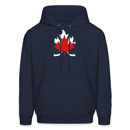 Maple Leaf Hockey Stick Cross - Men's Hoodie