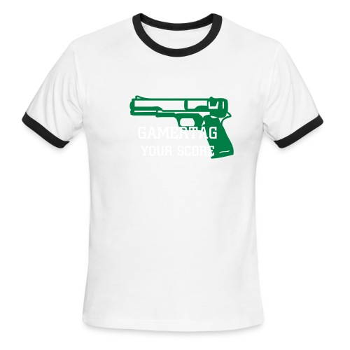 Men's Ringer T-Shirt - Share your Gamertag loud and proud.
