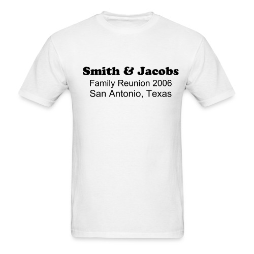 Smith & Jacobs Reunion Details White - Men's T-Shirt