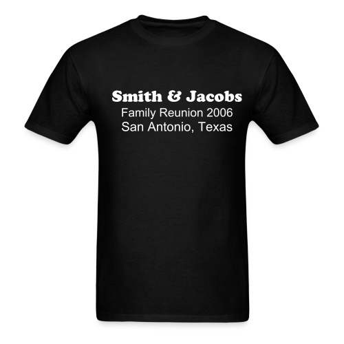 Smith & Jacobs Reunion Details Black - Men's T-Shirt