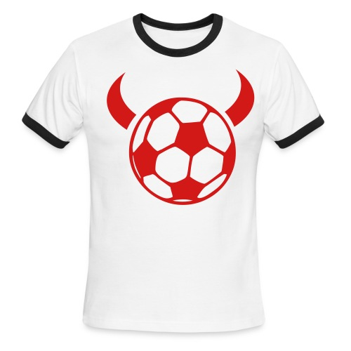 Soccer Devil T-Shirt - Men's Ringer T-Shirt