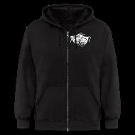 Zip Hoodies & Jackets ~ Men's Zip Hoodie ~ Black Spotlight Hoodie