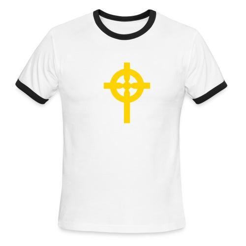 Christian T-Shirt: Christian Cross - Men's Ringer T-Shirt