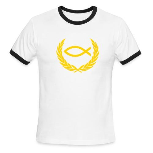 Christian T-Shirt: King of th Fish - Men's Ringer T-Shirt