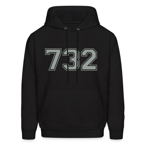 Customize to Rep Your Hood- New Jersey (Guy's Black and Gray) - Men's Hoodie