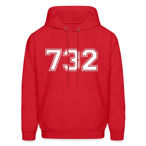 Customize to Rep Your Hood- New Jersey (Guy's Red and White) - Men's Hoodie