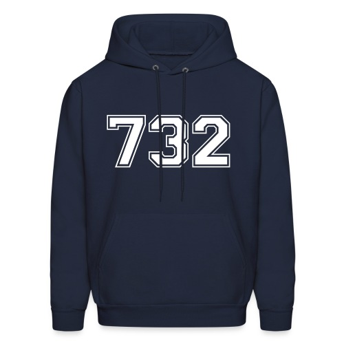 Customize to Rep Your Hood- New Jersey (Guy's Navy and White) - Men's Hoodie