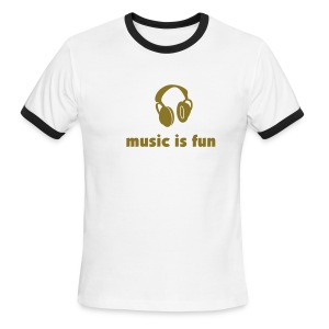 tbf music is fun - Men's Ringer T-Shirt
