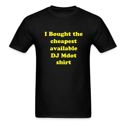 Cheapo Shirt (Black) - Men's T-Shirt