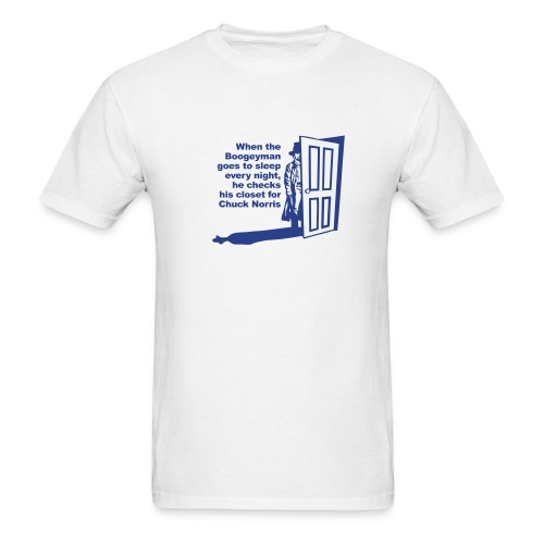 Boogie man and Chuck Norris - Men's T-Shirt