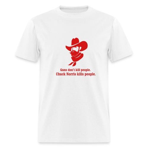 Chuck Norris and guns - Men's T-Shirt