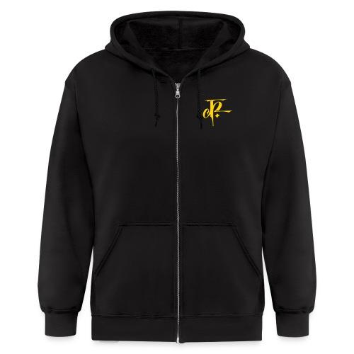 JH Mens Zipper Hoodie black/gold - Men's Zip Hoodie