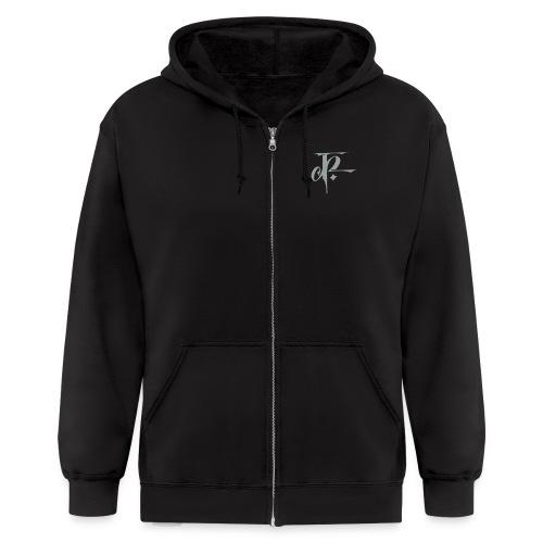 JH Mens Zipper Hoodie black/silver grey - Men's Zip Hoodie