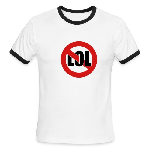 Wht No LOL Ringer T - Men's Ringer T-Shirt