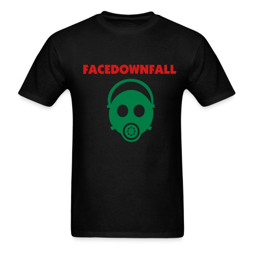 Facedownfall Gas Mask - Men's T-Shirt