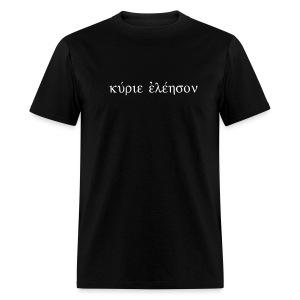 Kyrie Eleison (Flock White) - Men's T-Shirt