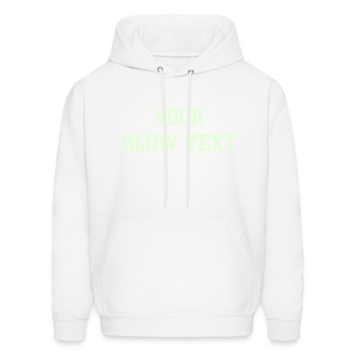 White Sweatshirt (Glow in Dark Text) - Men's Hoodie