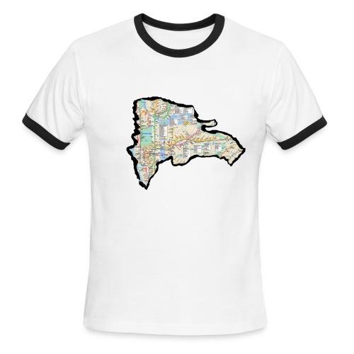 DR-SubwayMap - Men's Ringer T-Shirt