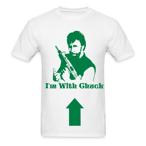 I'm With Chuck T (White) - Men's T-Shirt